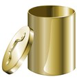 A cylindrical pan vector image vector image
