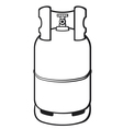 a propane gas cylinder vector image vector image