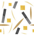 abstract seamless background with gold and black vector image