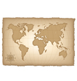 an old map world vector image