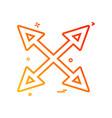 arrow four way icon design vector image