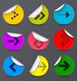 Arrows Set Paper Arrow in Colorful Circles vector image