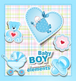baby boy items vector image
