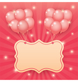 balloon starburst background vector image