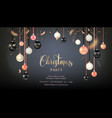 beautiful dark christmas balls vector image vector image