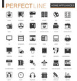 black classic home appliances household web icons vector image vector image