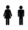 black silhouette man and woman vector image vector image