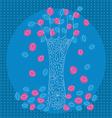 blue tree vector image vector image