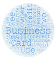 Business Owners Views of Business Credit Cards vector image vector image
