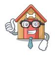 businessman cartoon dog house and bone isolated vector image