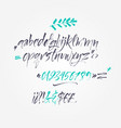 calligraphic alphabet vector image vector image