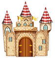 castle tower with wooden door vector image vector image