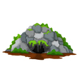 cave cartoon with forest landscape background vector image