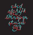 color 3d alphabet pipe font vector image