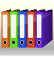 Colorful Binders vector image vector image