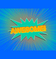 comic colorful explosive concept vector image vector image