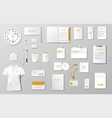 corporate identity template design realistic vector image vector image