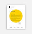 creative letterhead template design - yellow vector image vector image
