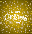 cute Merry Christmas card gold holiday card vector image