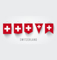different switzerland flag set vector image