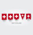 different switzerland set vector image
