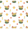 easter chicken seamless pattern cute chicken eggs vector image