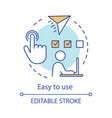 easy to use concept icon