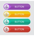 flat buttons with dollar icon vector image vector image