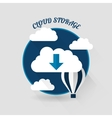 Flat design of the cloud storage vector image