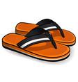 flip flops orange design vector image vector image