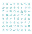 food courts icons set outline set food vector image