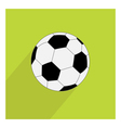 Football soccer ball icon with long shadow Flat vector image vector image