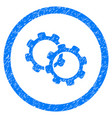 gears rounded grainy icon vector image vector image