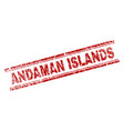 grunge textured andaman islands stamp seal vector image