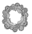 hand drawn circle frame for photo with steampunk vector image