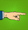 hand showing deaf-mute gesture human arm hold vector image vector image