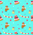 happy birthday seamless pattern with cute vector image vector image