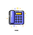icon of office phone for communication vector image