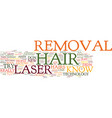 laserhairremoval text background word cloud vector image vector image