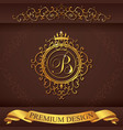 letter b luxury logo template flourishes vector image