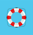 lifebuoy icon in flat style isolated on a light vector image