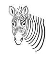 line art zebra sketch vector image