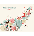Merry Christmas vintage colors transparency vector image