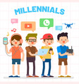 millennials generation y vector image