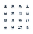 network connection and hosting icon set vector image vector image