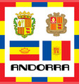 official government ensigns of andorra vector image vector image