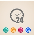 open 24 hours a day icons vector image vector image