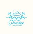 paradise label emblem or logo template vector image vector image