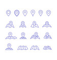 pin and map icons vector image vector image