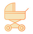 pram flat icon baby carriage orange icons in vector image vector image
